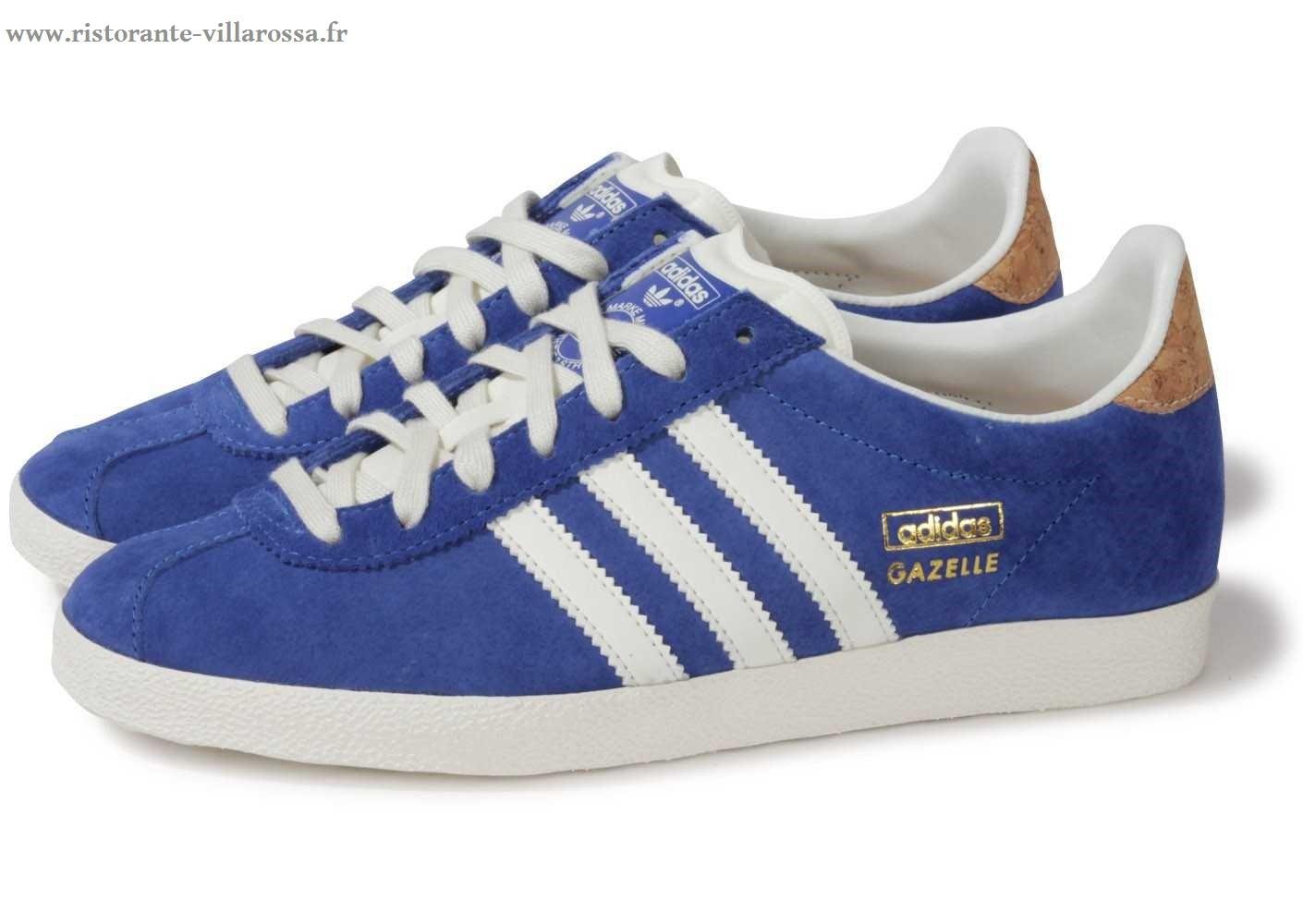 adidas gazelle bleu femme pas cher