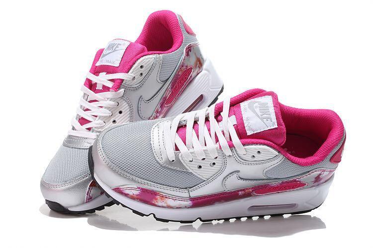 femme max 90 argente et rouge pas cher,Chaussures Femme Nike Air Max 90 Pas  Cher Argent Rouge 744596_001